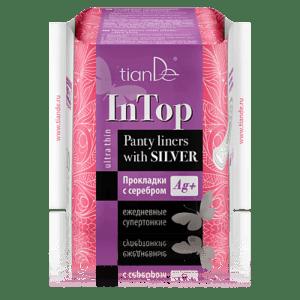 """Супер тънки дамски превръзки със сребро """"In Top"""", 20 бр"""