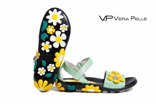 Сандали Vera Pelle модел Margarita - зелена кожа