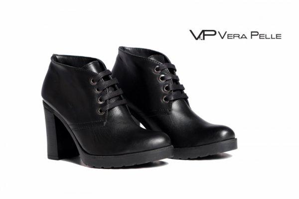 боти Vera Pelle модел - Rita черна кожа