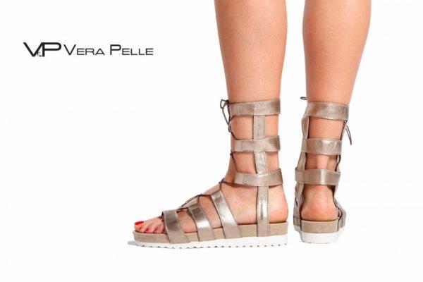 сандали Vera Pelle модел - Bronze sun кожа