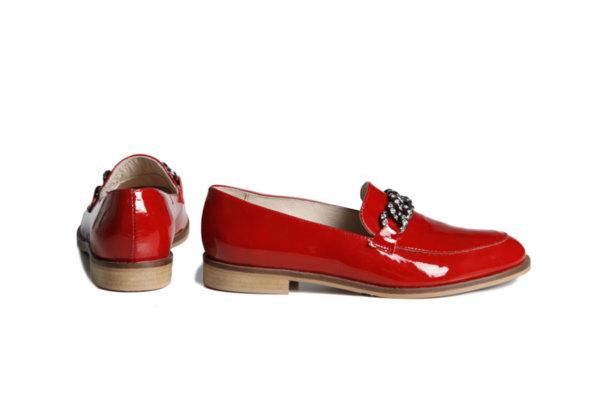Дамски обувки Vera Pelle модел 1901 червен лак