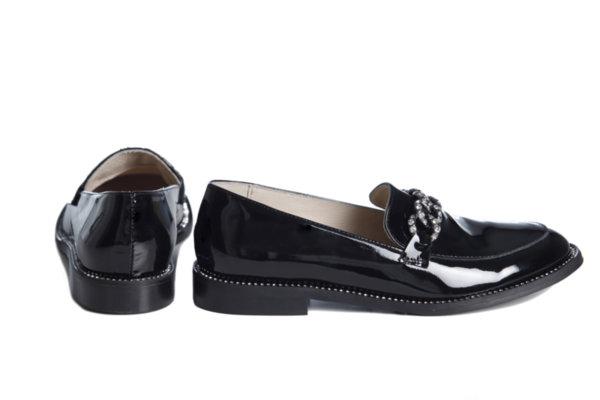 Обувки Vera Pelle модел 1901 черен лак