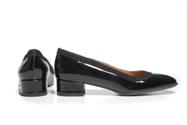 Дамски обувки Vera Pelle модел - 881019 черен лак + черен велур