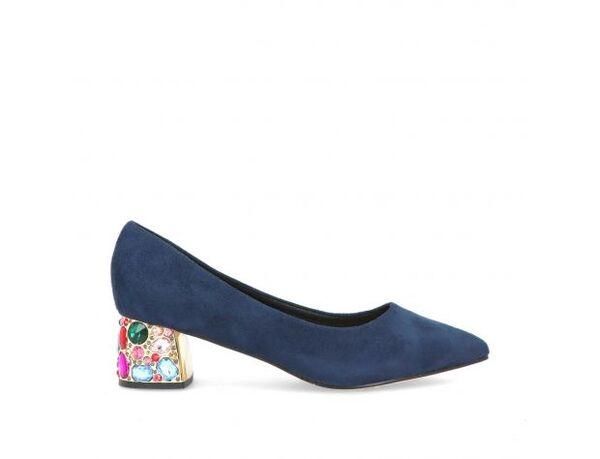 Дамски обувки Menbur модел - 20780 тъмно син велур