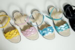 Дамски сандали Vera Pelle модел  - 820 синя  кожа