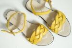 Дамски сандали Vera Pelle модел  - 820 жълта кожа
