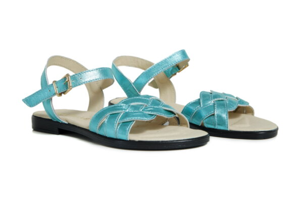 Дамски сандали  Vera Pelle  модел - 820 зелена кожа