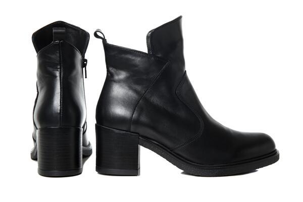 Дамски боти Vera Pelle FLEX модел - Dallas  черна кажа
