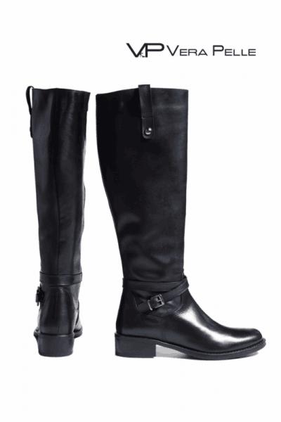 Ботуши Vera Pelle модел - My style черна кожа