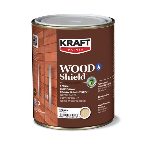 Полиуретанов лак за дърво на водна основа WOOD SHIELD SATIN KRAFT PAINTS