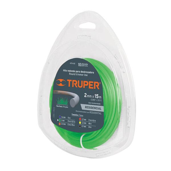 TRUPER корда за тример - кръгла; 2 мм - 15 м