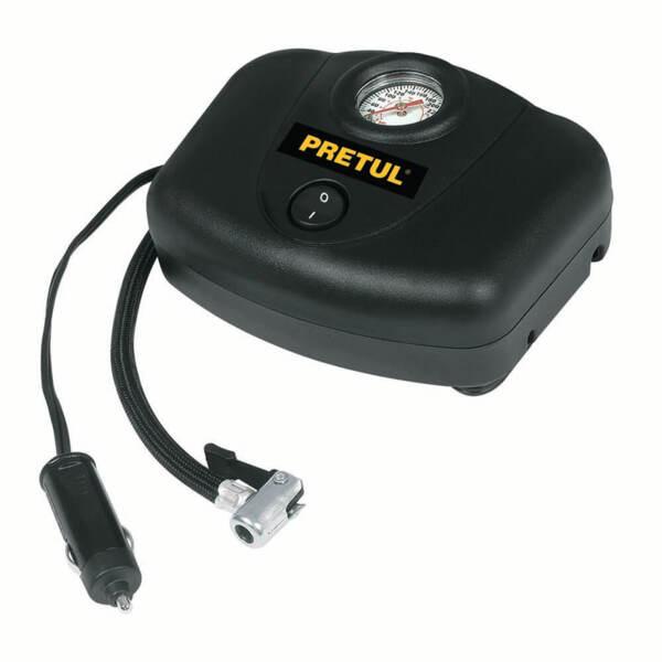 PRETUL Компресор за гуми с манометър – 12 V