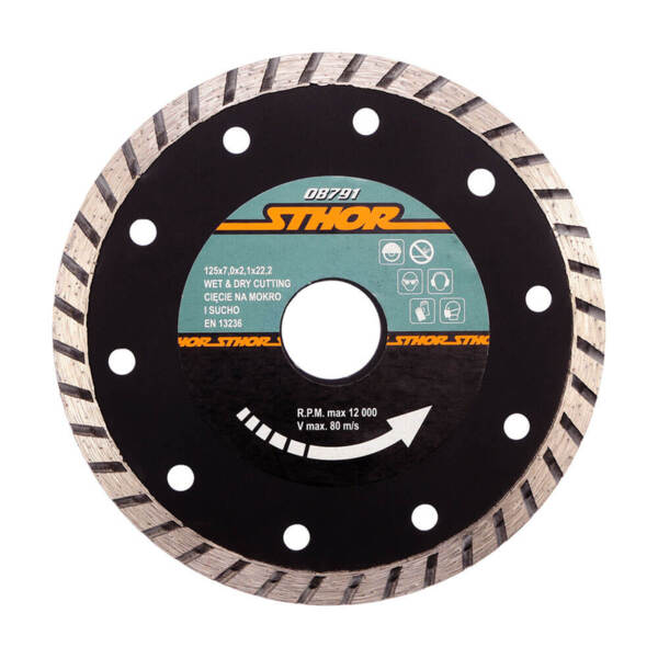 STHOR Диамантен диск TURBO Ø125 мм