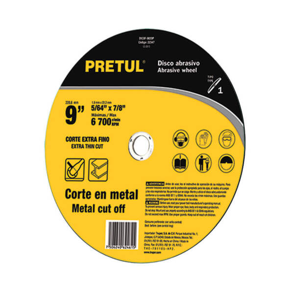 PRETUL Диск за рязане на метал- Ø229 мм