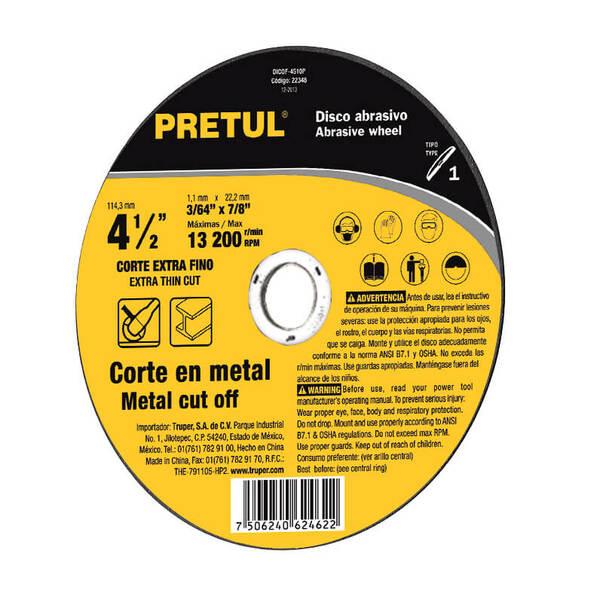 PRETUL Режещ диск за метал – Ø114 мм