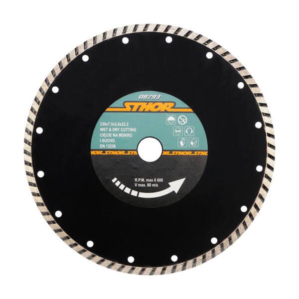STHOR Диамантен диск TURBO Ø210 мм