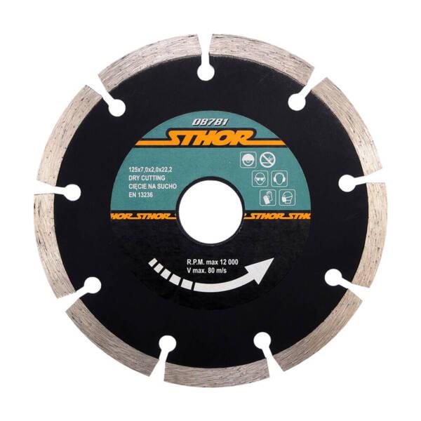 STHOR Диамантен диск за бетон, сегментиран Ø125 мм