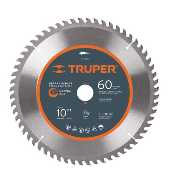 TRUPER Диск за циркуляр за дърво – фин – Ø254 мм