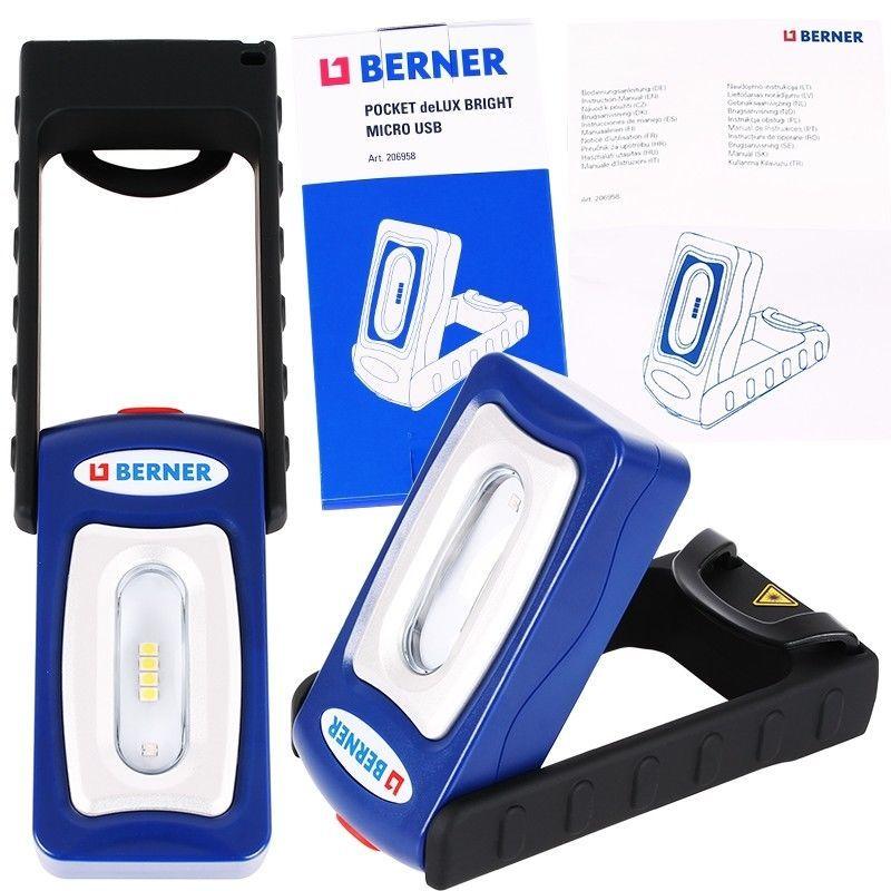 """Работна Лампа Бернер BERNER Pocket Delux """"Bright"""""""
