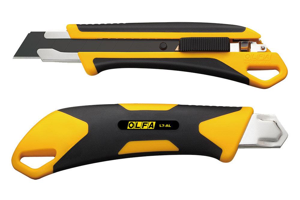 Макетен нож HEAVY, OLFA L7 AL, 18 mm, 5 режещи пластини LBB