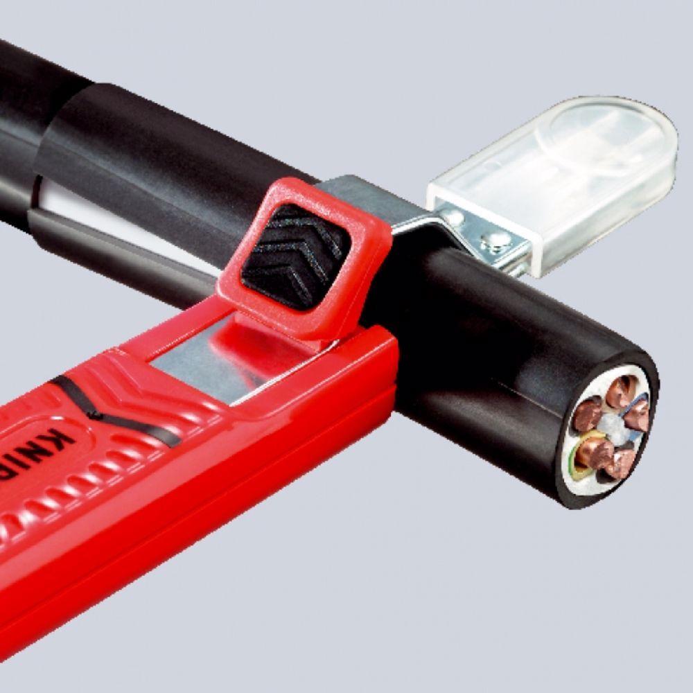 Нож за заголване на кабели с кука Knipex, Ø 8 - 28 мm