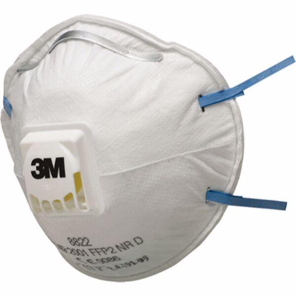 Респираторна маска с клапа 3М, синя лента, 8822, FFP2, 10 бр.