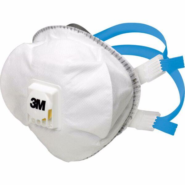 Респираторна маска за аерозолна защита 3M, синя лента, FFP2, 5 бр.