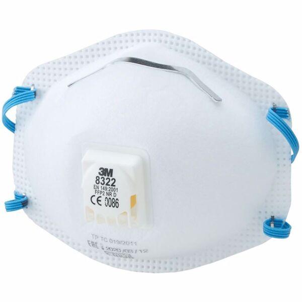Респираторна маска с клапа 3М, синя лента, 8322, FFP2, 10 бр.