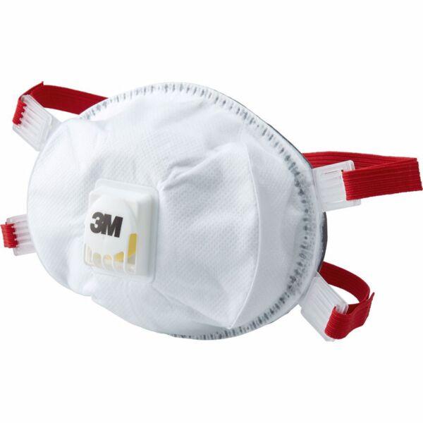 Респираторна маска 3M, аерозолна защита, червена лента, FFP3