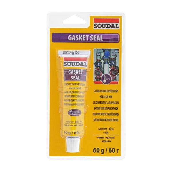 Високотемпературен силикон SOUDAL, Gasket Seal 280 ⁰C, 60 ml, червен