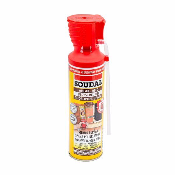 PU монтажна пяна SOUDAL, Genious gun, 500 ml, ръчна
