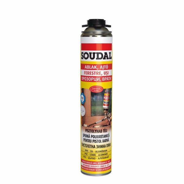 PU монтажна пяна SOUDAL, 750 ml, пистолетна, зимна
