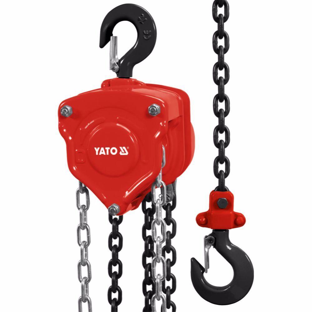 Ръчна лебедка с верига YATO, 500 кг