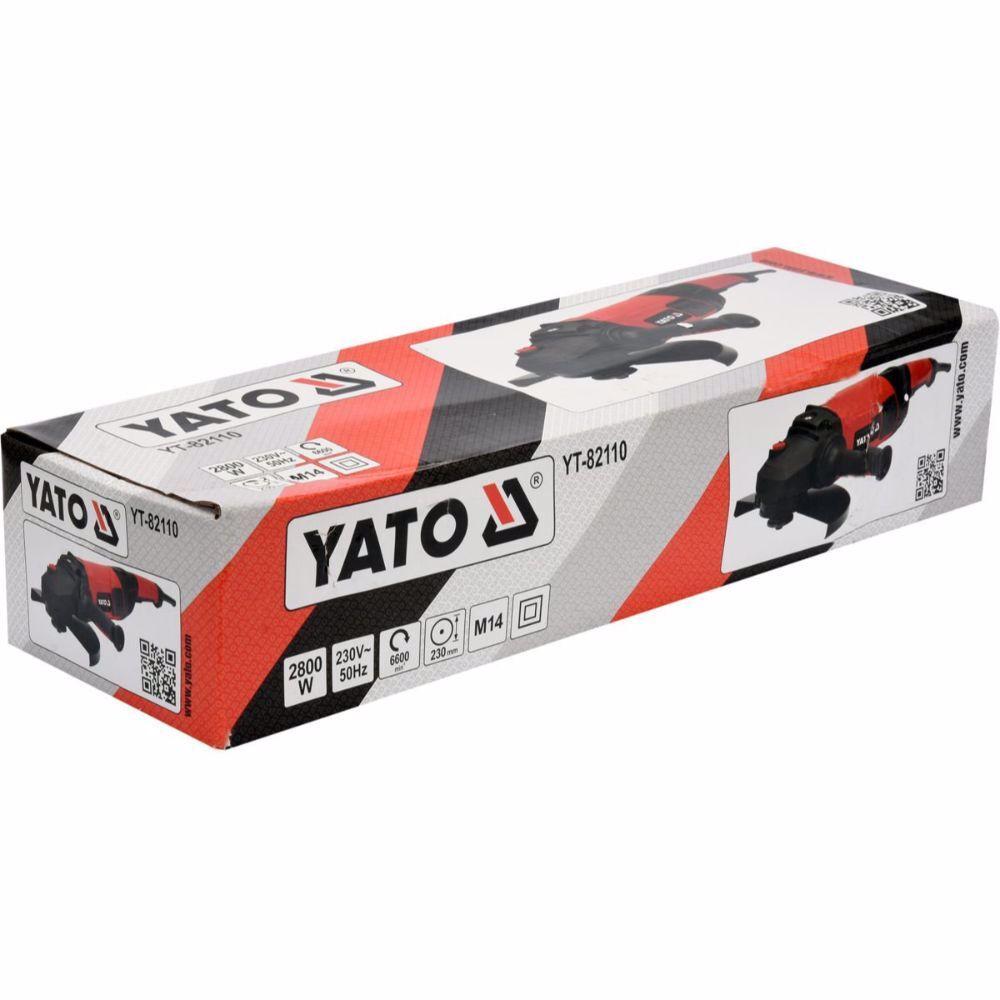 Ъглошлайф YATO 82110, 2800 W, ф 230 мм