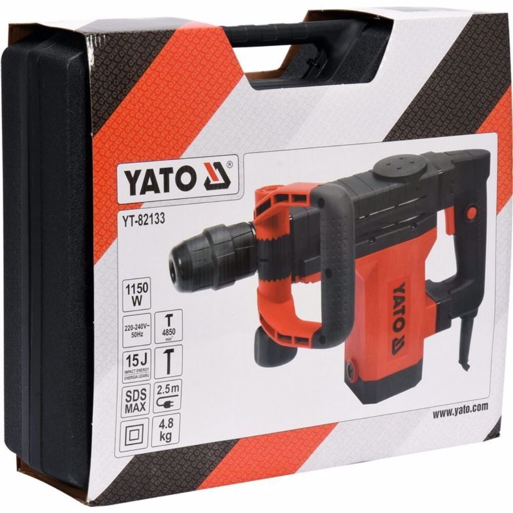 Къртач YATO 82133, 1150 W, 15 J, SDS Max