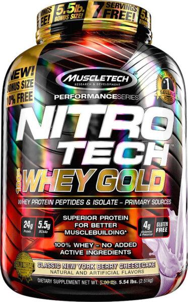 MuscleTech NitroTech Whey Gold 2.50kg (5.5lb)