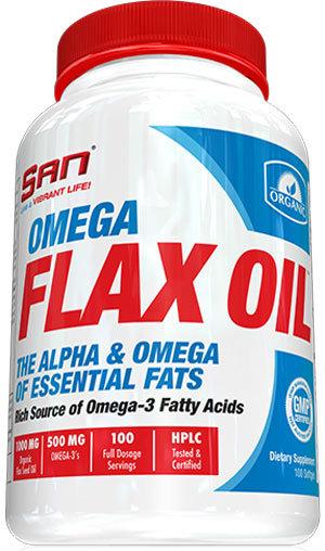 San Omega Flax Oil - 100 капсули