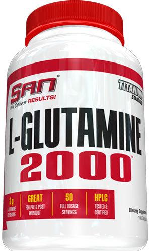 San L-Glutamine 2000 - 100 капсули