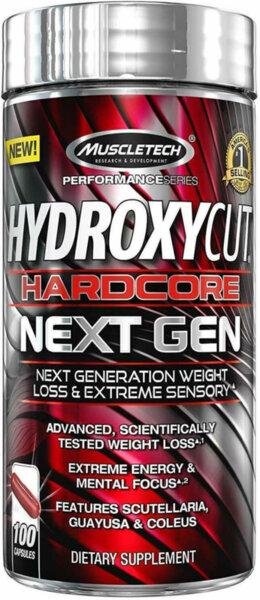 MuscleTech Hydroxycut Hardcore Next Gen - 100 капсули