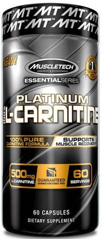MuscleTech Platinum 100% L-Carnitine - 60 капсули