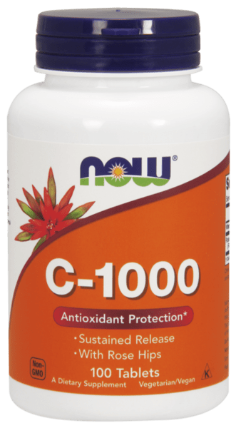 NOW Foods Vitamin C-1000 + Екстракт от Шипка