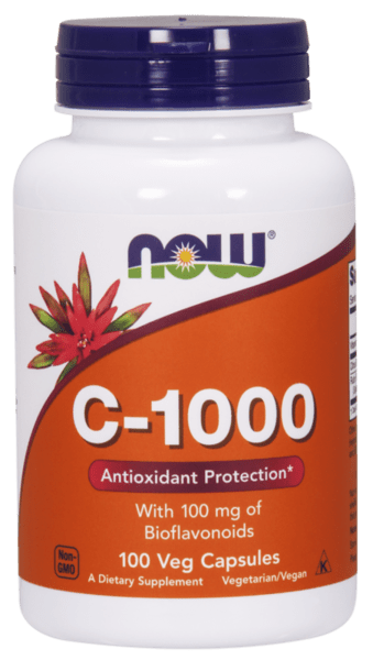 NOW Foods Vitamin C-1000 + Биофлавоноиди - 100 капсули