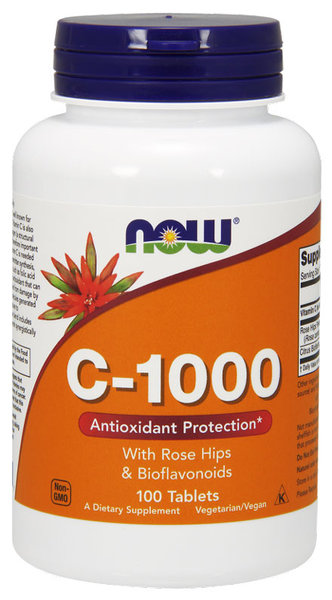 NOW Foods Vitamin C-1000 + Биофлавоноиди и Екстракт от Шипка