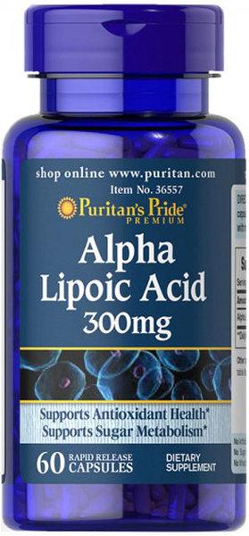 Puritan's Pride Alpha Lipoic Acid - 60 капсули