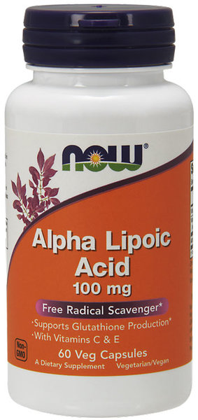 Now Foods Alpha Lipoic Acid 100mg - 60 капсули