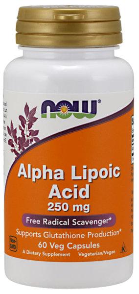 Now Foods Alpha Lipoic Acid 250mg - 60 капсули