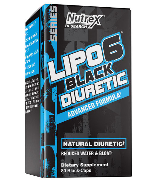Nutrex Lipo-6 Black Diuretic - 80 капсули