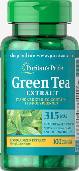 Puritan's Pride Green Tea - 100 капсули