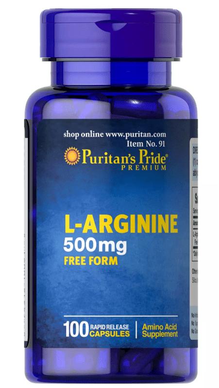 Puritan's Pride L-Arginine 500 mg - 100 капсули