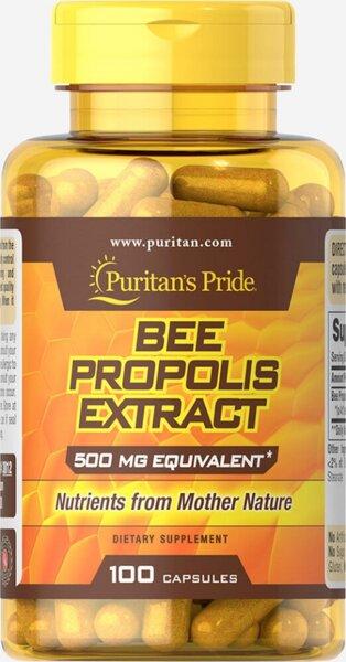 Puritan's Pride Bee Propolis 500mg - 100 капсули